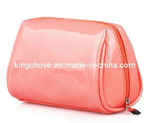 Good Selling Patent Pink PU Cosmetic Bag (KCC48) pictures & photos