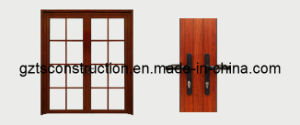 Aluminum Double French Door with AS/NZS2208 and Ce for Glass pictures & photos