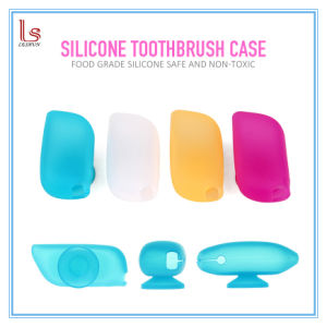 Wholesale Promotion Silicone Toothbrush Protector Cover with Sucker Tactical Travel Case pictures & photos