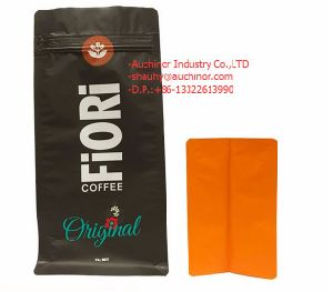 Customized Plastic Aluminum Foil Kraft Paper Food Packaging for Coffee Bag with Valve pictures & photos