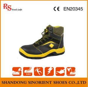 Black Action Leather Steel Toe Safety Jogger Shoes RS045 pictures & photos