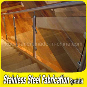 Interior Modern Stainless Steel Stair Railing with Glass pictures & photos