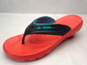 EVA Fashion Summer Concise Flip Flops with Red Sole (21GL1702) pictures & photos