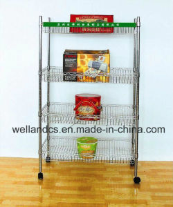 Multifunctional Modern Adjustable Chrome Metal Basket Rack for Home (BK603590A4CW) pictures & photos