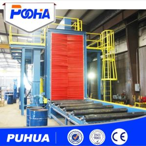 Q69 Steel Plate Shot Blasting Machine CE Approved Pipe pictures & photos