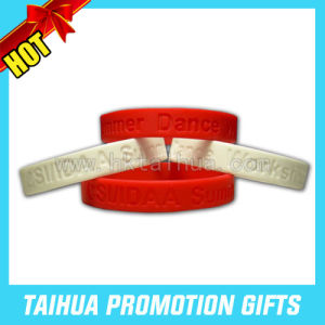 Promotion Deboss Silicone Bracelet/ Silicone Wristband (TH-band001) pictures & photos