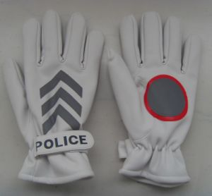 PU Traffic Command Gloves for Winter Use pictures & photos