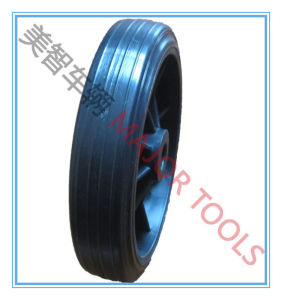 High Load Capacity Solid Rubber machinery Wheel with Cast Iron Rim pictures & photos