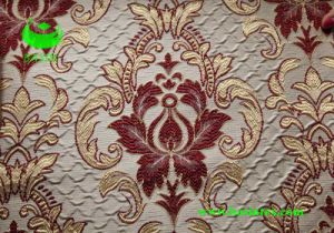 Polyester Jacquard Wrinkle Effect Curtain Fabric (BS1305) pictures & photos