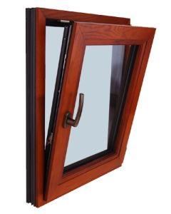 Aluminium Profile Wood Composite Window Frame pictures & photos