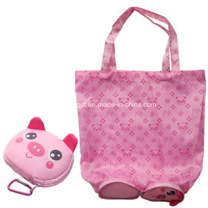 New Design Useful Cute Shape Shopping Bag Foldable with Small Pouch pictures & photos