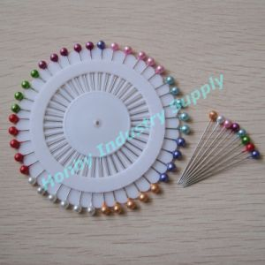 Stylish and Elegant 38mm Assorted Color Round Pearl Head Pin (A1015A)