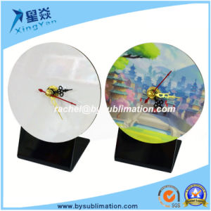 Sublimation Blank Round MDF Clock with Pointer pictures & photos