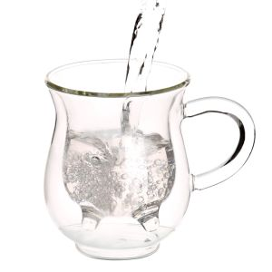 Double Wall Glass Milk Mug pictures & photos