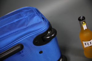 Nylon Trolley Bag with 2 Skating Wheel China Factory pictures & photos