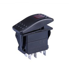 3 Pin Spst Marine Boat Waterproof Red LED Rocker Switch on/off with Light pictures & photos