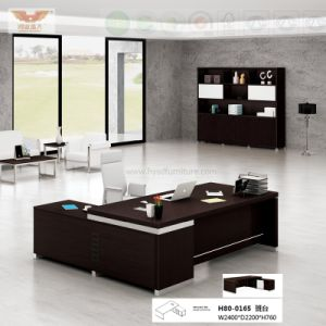 Office Furniture Black L Shape Executive Desk (H80-0165) pictures & photos