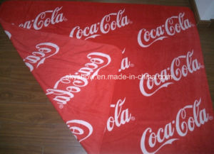 Doule Sides Printed Coca-Cola Fleece Blanket (SSB0135) pictures & photos
