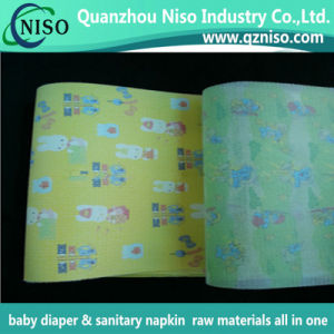 Disposable Baby Diaper Nonwoven Fabric Frontal Tape with Cartoon Pattern pictures & photos