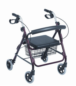 Aluminum Multi-Functional Walking Aid Rollator Elderly Rollator Disabled People Rollator pictures & photos