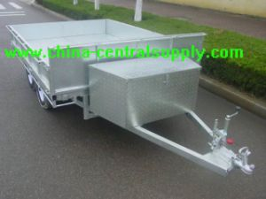 2.8m Box Trailer with Tool Box pictures & photos