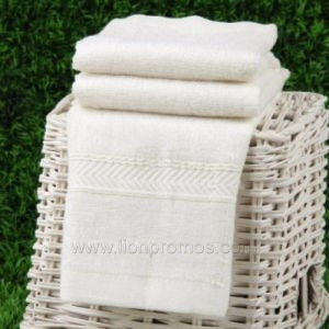 Custom Logo Jacquard Cotton Hotel Towel pictures & photos