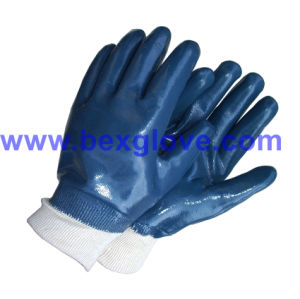 Blue Nitrile Glove, Full Coated pictures & photos