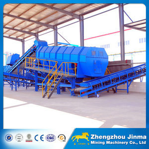 Rabbish Garbage Municipal Solid Waste Soil Construction Building Waste Gravel Trommel Screen Machine Price (GTS1530)