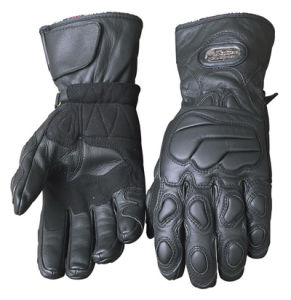 Genuine Leather Motorcycle Gloves pictures & photos