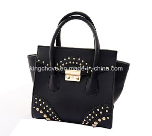 2016 Latest PU Tote Bag with Studs and Lock (KCH246) pictures & photos