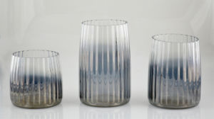 Gray Gradient Plating Glass Candle Holder pictures & photos