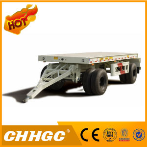 Chhgc 2 Axles Flatbed Type Drawbar Full Trailer pictures & photos