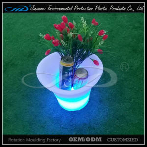 4 Leaf LED Ice Bucket with LLDPE Plastic Material pictures & photos