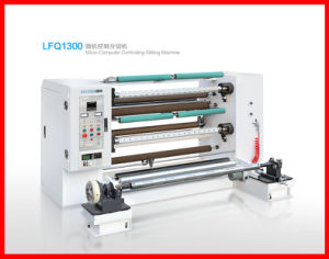 Plastic Film Paper Slitting and Rewinding Machine (LFQ1300) pictures & photos