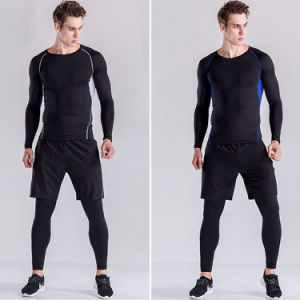 China Manufacturer Polyester Blend Nylon Men Compression Wear pictures & photos