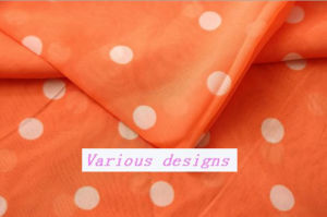 2015 Newest Design Polk DOT Printed Polyester Chiffon Fabric for Ladies Blouse pictures & photos