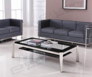 Stainless Steel Table, Tempered Glass Coffee Table Ca134 pictures & photos