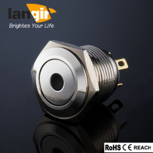 Ls16 Waterproof Flat Nickel Plated Brass DOT Momentary Push Button Switch pictures & photos