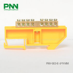 Dinrail Mouting Terminal Block 8ways 6*9mm