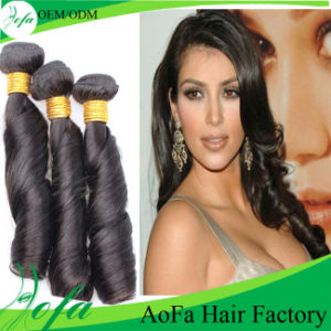 Spring Curly Brazilian Virgin Human Hair pictures & photos