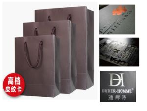 High Quality Black Paper Shopping Bag Clothing Packing Bag pictures & photos