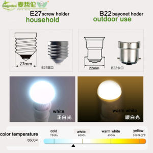 E27 220V 3W A60 LED Bulb, LED Light Bulb pictures & photos