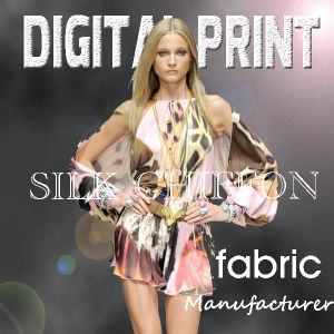 Top Quality Individual Design Digital Printed Chiffon Fabric pictures & photos