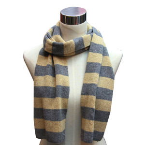 Wool Acrylic Blend Knitted Kids Fashion Scarf (YKY4320) pictures & photos