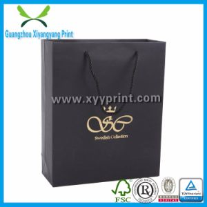 Custom Printing Black Paper Bag with Handle pictures & photos
