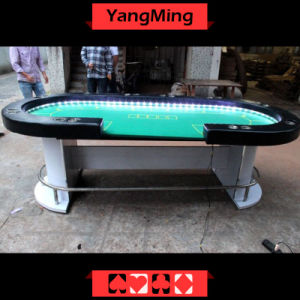 Silver LED Texas Casino Table (YM-TB016) pictures & photos