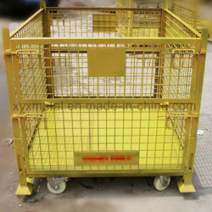 Warehouse Metal Folding Storage Collapsible Stacking Roll Wire Mesh Container pictures & photos