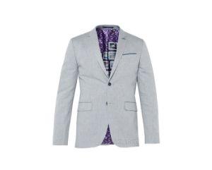 Grey Jacquard Suits Three-Piece Suit Fused Suit pictures & photos