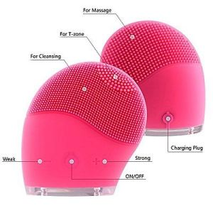 Latest Mini Electric Face Brush Cleaner Silicone Waterproof Ultrasonic Instrument Facial Skin Care Brush cleaner
