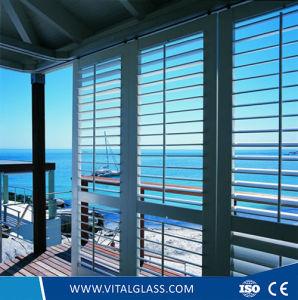 Green/Blue/Bronze Louver Glass for Windows/Bathroom Glass pictures & photos